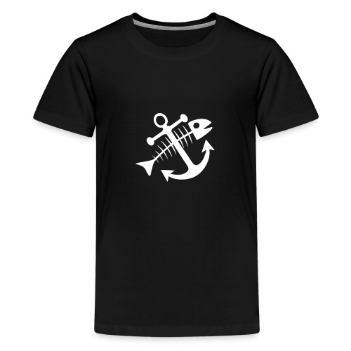 Fischkutterpirat cap - Teenager Premium T-Shirt