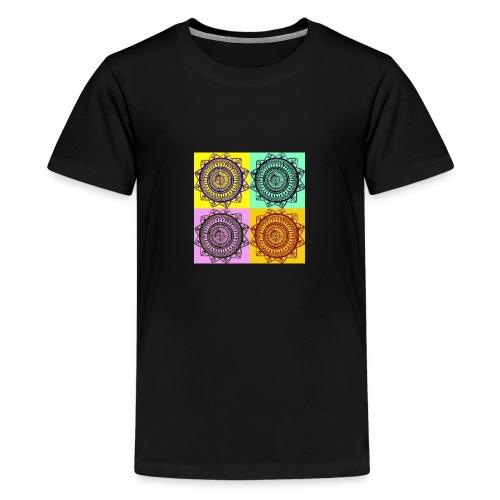 Pop Art Mandala - Teenage Premium T-Shirt