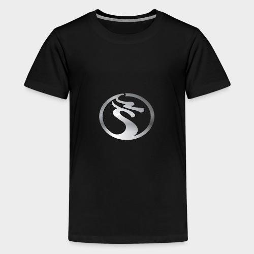 LOGO DRAGON PLATA - Camiseta premium adolescente