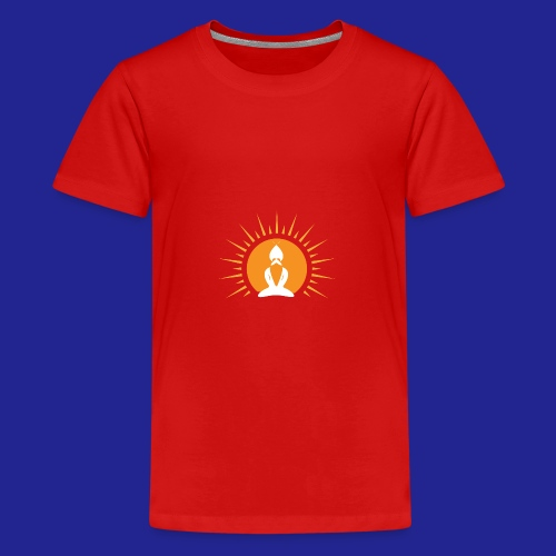 Guramylyfe logo white no text - Teenage Premium T-Shirt