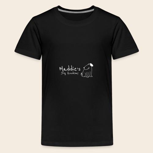 Académie des chiens de Maddie (blanc) - T-shirt Premium Ado