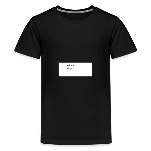 nihatrh vlogs - Teenage Premium T-Shirt