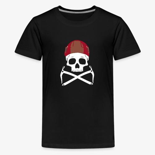 Climber Pirats skull white - Teenage Premium T-Shirt