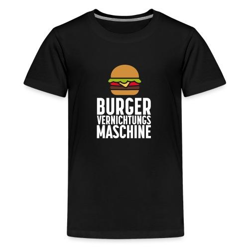 Burger Fanshirt Hamburger Grillen Burgerfreak - Teenager Premium T-Shirt