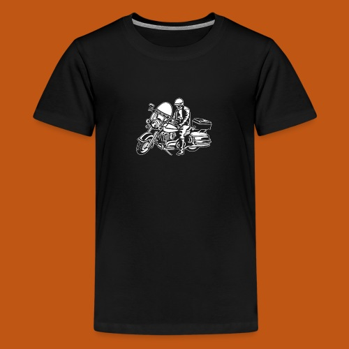 Chopper / Motorrad 05_weiß - Teenager Premium T-Shirt