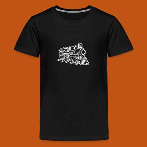 Lokomotive / Locomotive 01_weiß - Teenager Premium T-Shirt