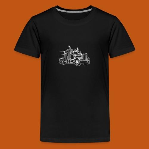 Truck / Lkw 03_weiß - Teenager Premium T-Shirt