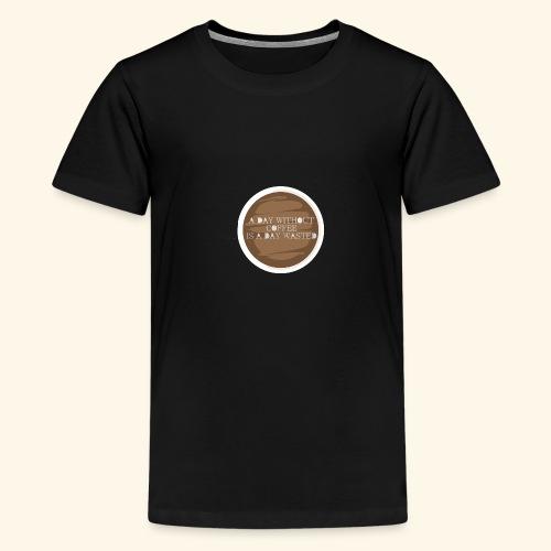 coffee - Premium-T-shirt tonåring