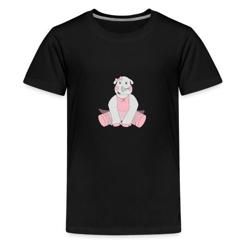 Ballerina Rhino - Teenager premium T-shirt
