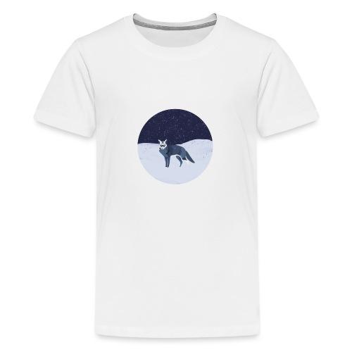 Blue fox - Teinien premium t-paita