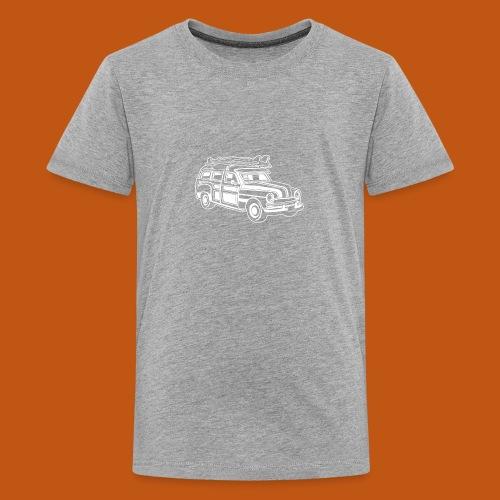 Chevy Cadilac Woodie / Oldtimer Kombi 01_weiß - Teenager Premium T-Shirt