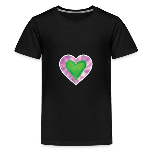 Green Heart - Teenage Premium T-Shirt