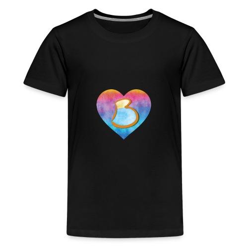 Be a B Heart - Teenage Premium T-Shirt