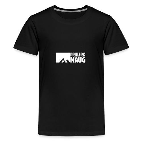 Priller&MAUG Logo WHT - Teenager Premium T-Shirt