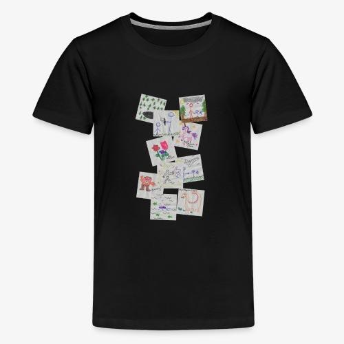 Drawings - Teenage Premium T-Shirt