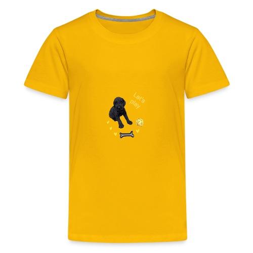 Giant Schnauzer puppy - Teenage Premium T-Shirt