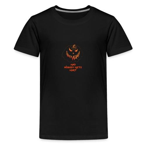 go vegan and nobody gets hurt Halloween - Teenage Premium T-Shirt
