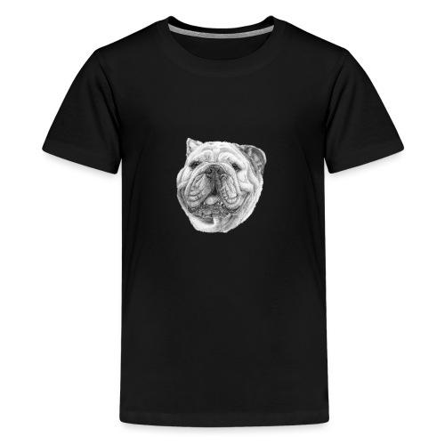EngelskBulldog M - Teenager premium T-shirt