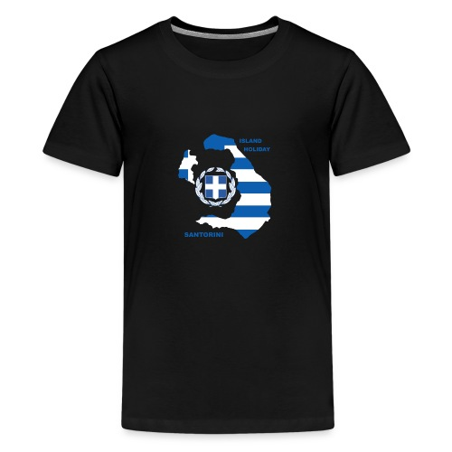 Santorini Island Holiday - Teenager Premium T-Shirt