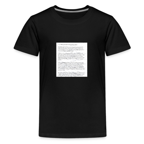Life Quote Tee - Teenage Premium T-Shirt