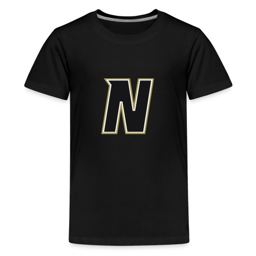 Nordic Steel Black N - Teenage Premium T-Shirt