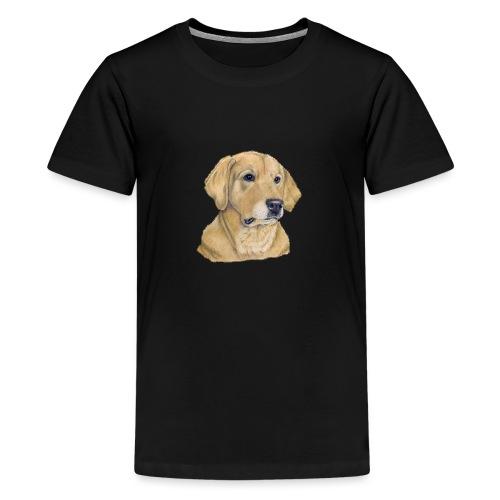 labrador yellow - pastel - Teenager premium T-shirt