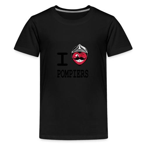 i_love_pompier_4 - T-shirt Premium Ado