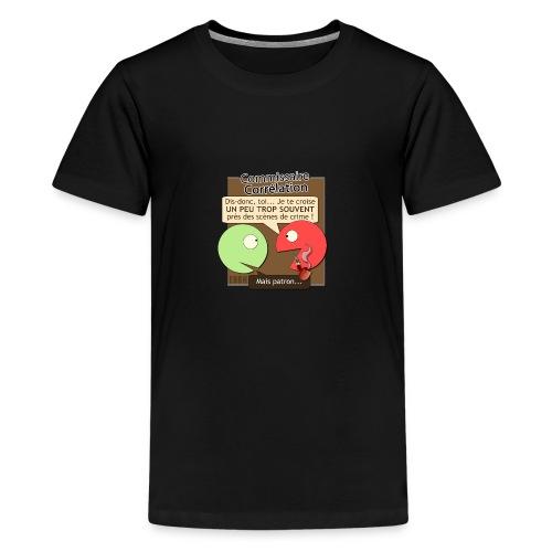 Commissaire Corrélation - T-shirt Premium Ado