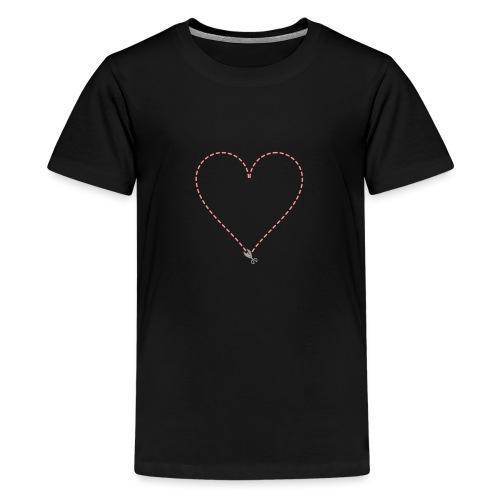 Coeur à découper - T-shirt Premium Ado