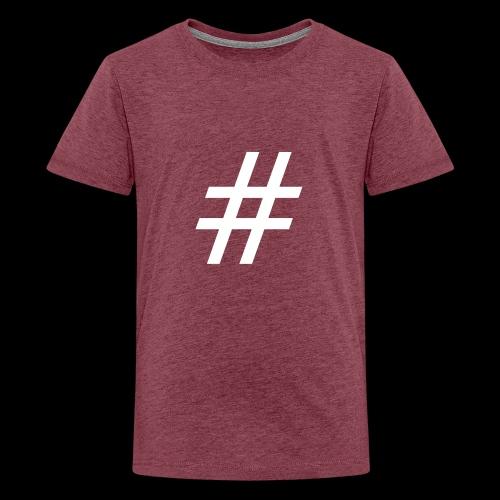 Hashtag Team - Teenager Premium T-Shirt
