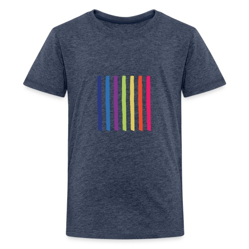 Linjer - Teenager premium T-shirt