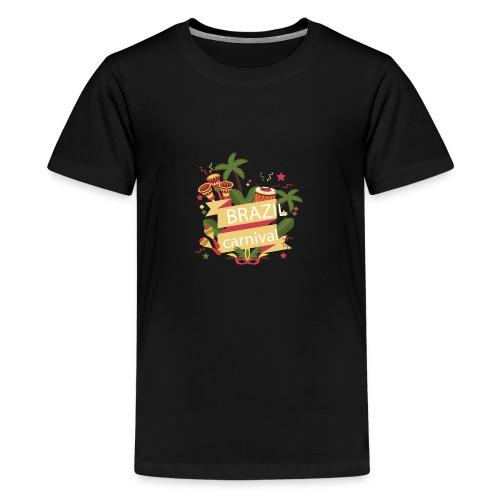 Encontro Brasil Carnival do Rio - Teenage Premium T-Shirt