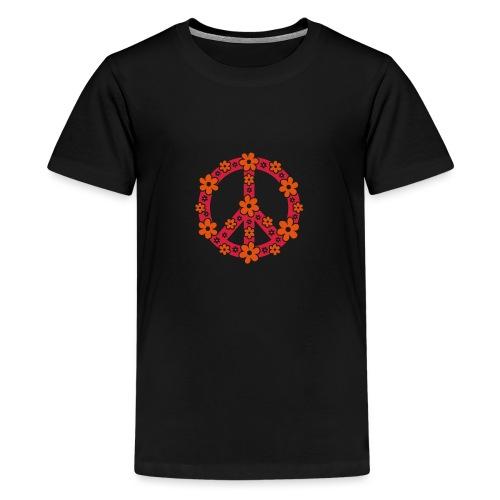 Peace Frieden Symbol Hippie Sommer Freiheit Liebe - Teenager Premium T-Shirt