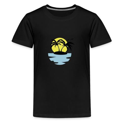 Island, Sun and Sea - Teenage Premium T-Shirt