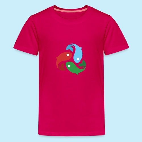 De fiskede fisk - Teenager premium T-shirt