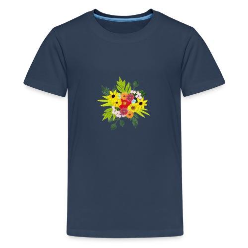 Flower_arragenment - Teenage Premium T-Shirt