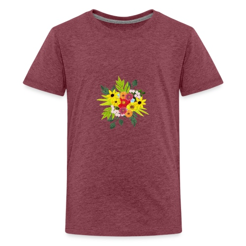 Flower_arragenment - Teenage Premium T-Shirt