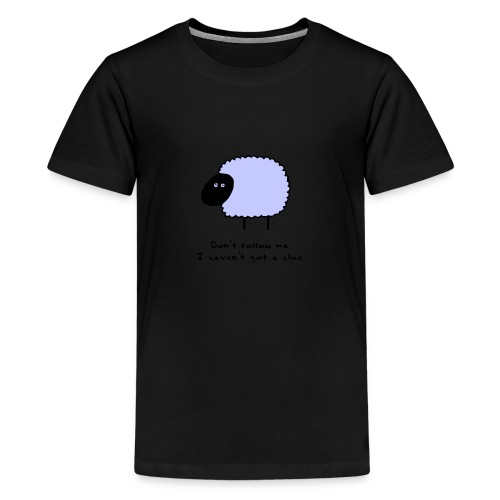 Sheep Clue - Teenage Premium T-Shirt
