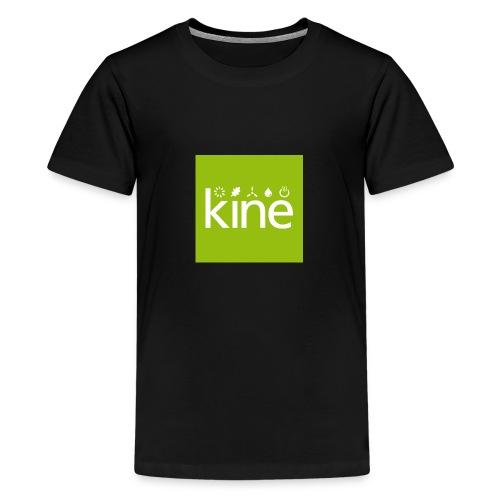 kine Logo nur für Button mit Hintergrund - Teenager Premium T-Shirt