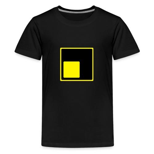 Logo schiefLicht - Teenager Premium T-Shirt