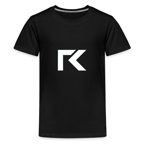 Rxmsey Logo - White - Teenage Premium T-Shirt