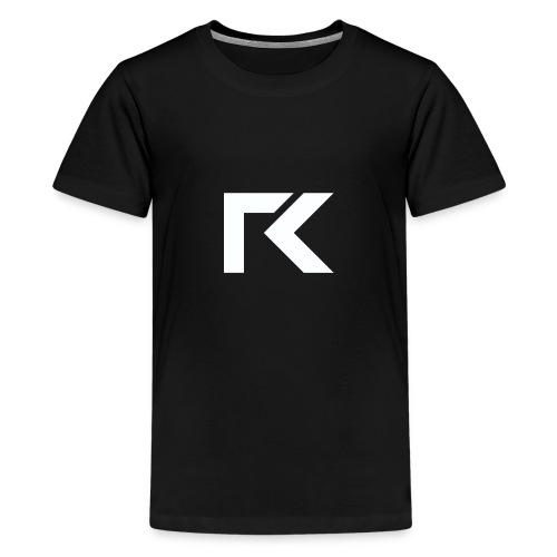 Rxmsey Logo - White - Teenage Premium T-Shirt