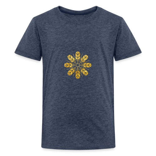 Inoue clan kamon in gold - Teenage Premium T-Shirt
