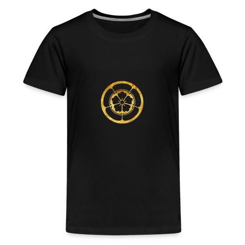 Oda Mon Japanese samurai clan in gold - Teenage Premium T-Shirt