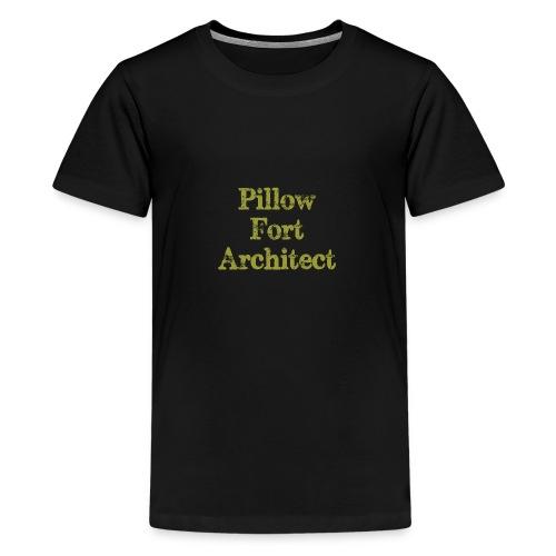 Pillow Fort Architect - Teenage Premium T-Shirt