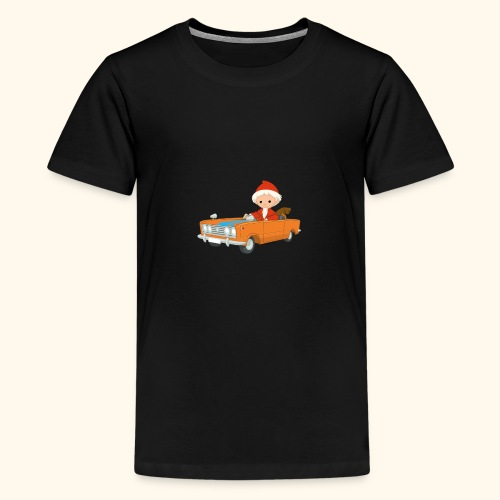 Sandmann fährt Auto - Teenager Premium T-Shirt
