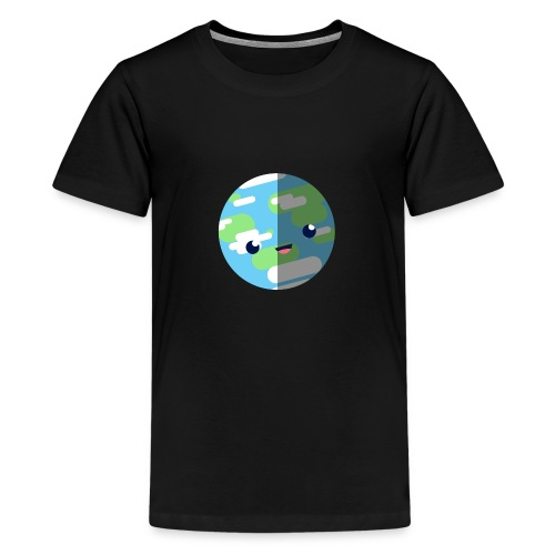 Cute Earth - Teenage Premium T-Shirt