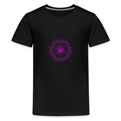 Pink Lotus Mandala - Teenage Premium T-Shirt