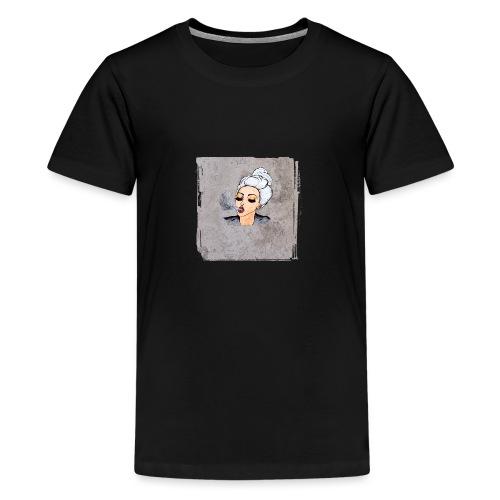 Girl blowing air or else - Teenage Premium T-Shirt