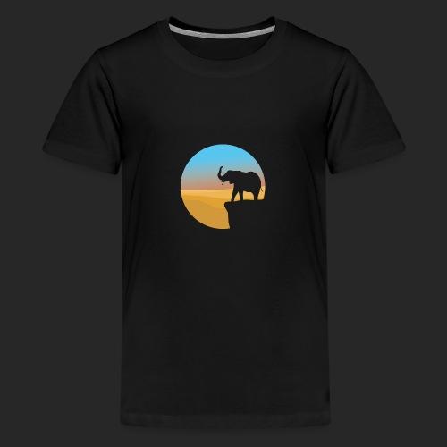 Sunset Elephant - Teenage Premium T-Shirt